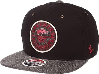 Zephyr Adult Men Admiral NCAA Snapback Hat, Black/Gray, Adjustable