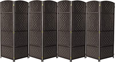 Lechnical 1-part Room divider Privacy screen partition wall more opaque Room divider Spanish screen Wall black 175 x 180 cm