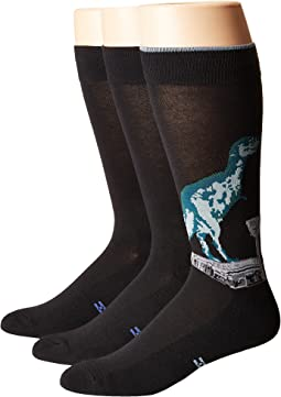T-Rex Socks with Half Cushion 3-Pack