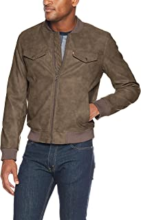 Levi's Men's Faux Suede Lightweight Trucker Bomber Jacket