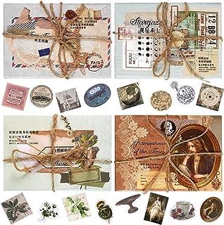 240 Autocollants de Scrapbooking Esthétiques Rétro pour Journalisation DIY Kit de Fournitures de Scrapbooking Antique Papi...