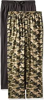 Men's Extended Sizes Jersey Knit Sleep Pant, Black/Green...
