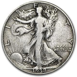 1938 P Walking Liberty Half Dollar 50C VG/VF