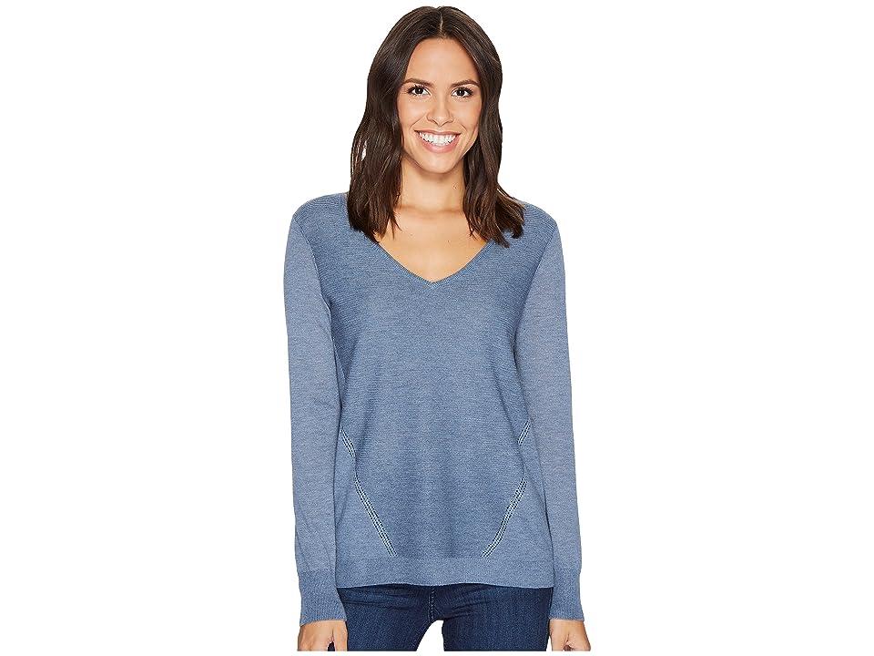 NYDJ Double V-Neck Sweater (Chambray Heather) Women