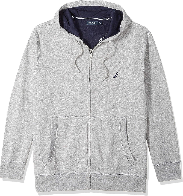 Nautica Mens Big and Tall Full-Zip Sweater Hoodie Sweatshirt