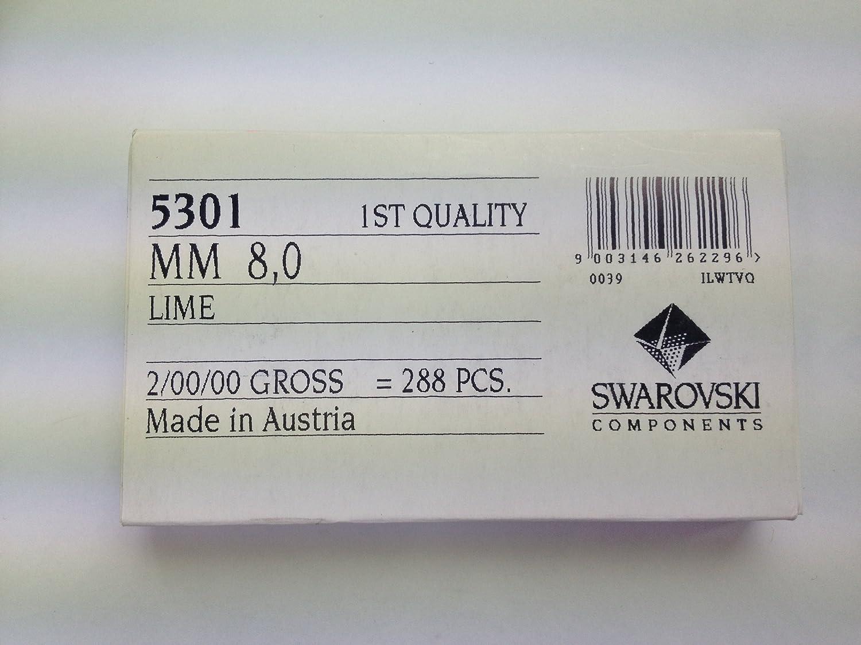 5301 8mm LIME  1 box Swarovski   (288 pieces) (japan import)