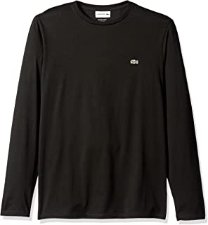 Lacoste Men's Long Sleeve Jersey Pima Regular Fit Crewneck T-Shirt