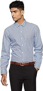 John Players Men's Solid Slim Fit Cotton Formal Shirt