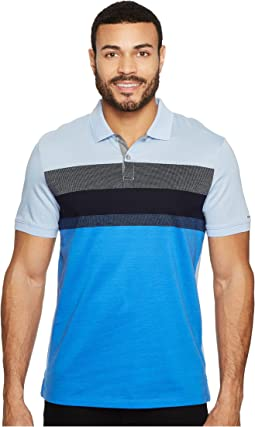 Calvin Klein - Front Panel Engineer Stripe Button Placket Polo