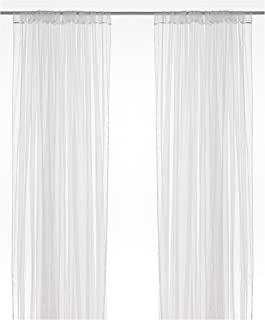 IKEA LILL Curtains Sheer Net White 2 Panels 110 X 98 Canopy Room Divider Voile