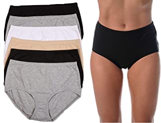 Brief Panties for Women Comfortable Cotton Panty (Pack of 6)