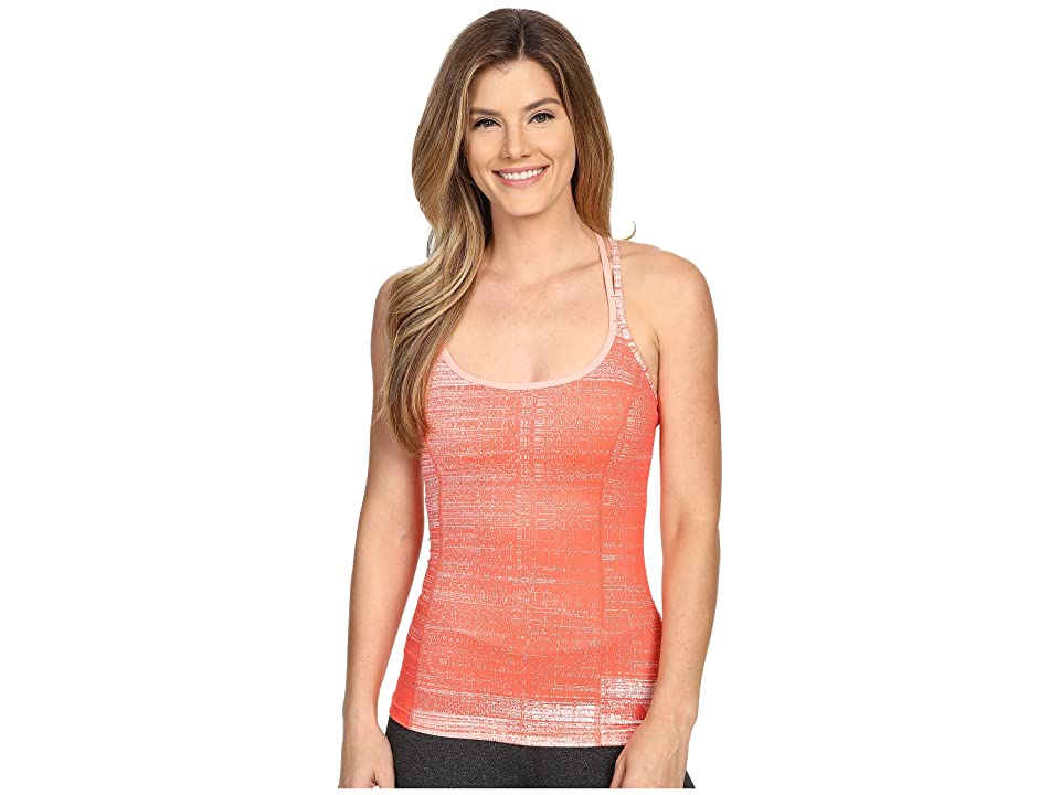 The North Face Empower Tank Top (Radiant Orange Scratchy Print (Prior Season)) Women