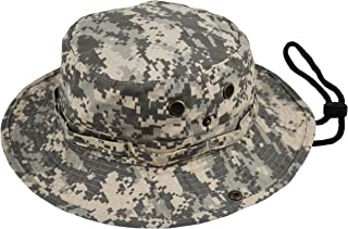 Summer Bucket Cap, Sun Hat Chinstrap, Outdoor Hunting Fishing Safari Boonie Hat