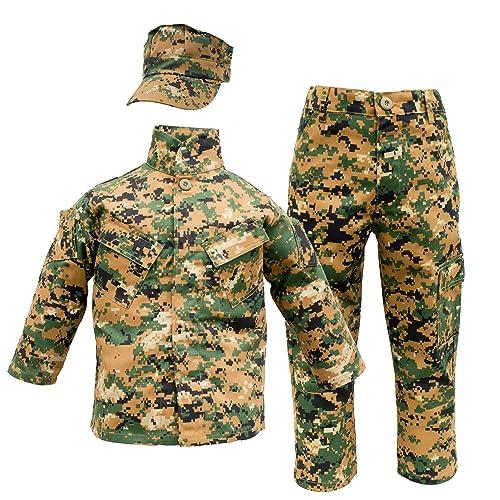3f991736 Kids USMC 3 pc Woodland Camo United States Marine Corps Uniform (Small 6-8