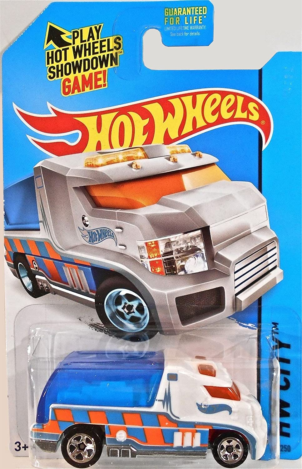Hot Wheels 2014   43 250 Rapid Response, White & bluee, Hw City