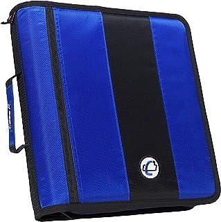 Case-it Classic O-Ring Zipper Binder, Blue, 2 Inches
