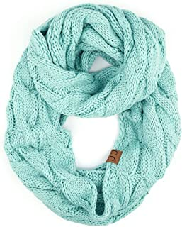 Hatsandscarf C.C Exclusives Solid and Multi Color Cable Kint Infinity Scarf