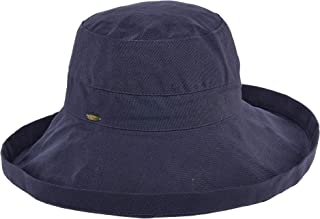 Women's Cotton Big Brim Hat with Inner Drawstring & UPF 50+ Rating