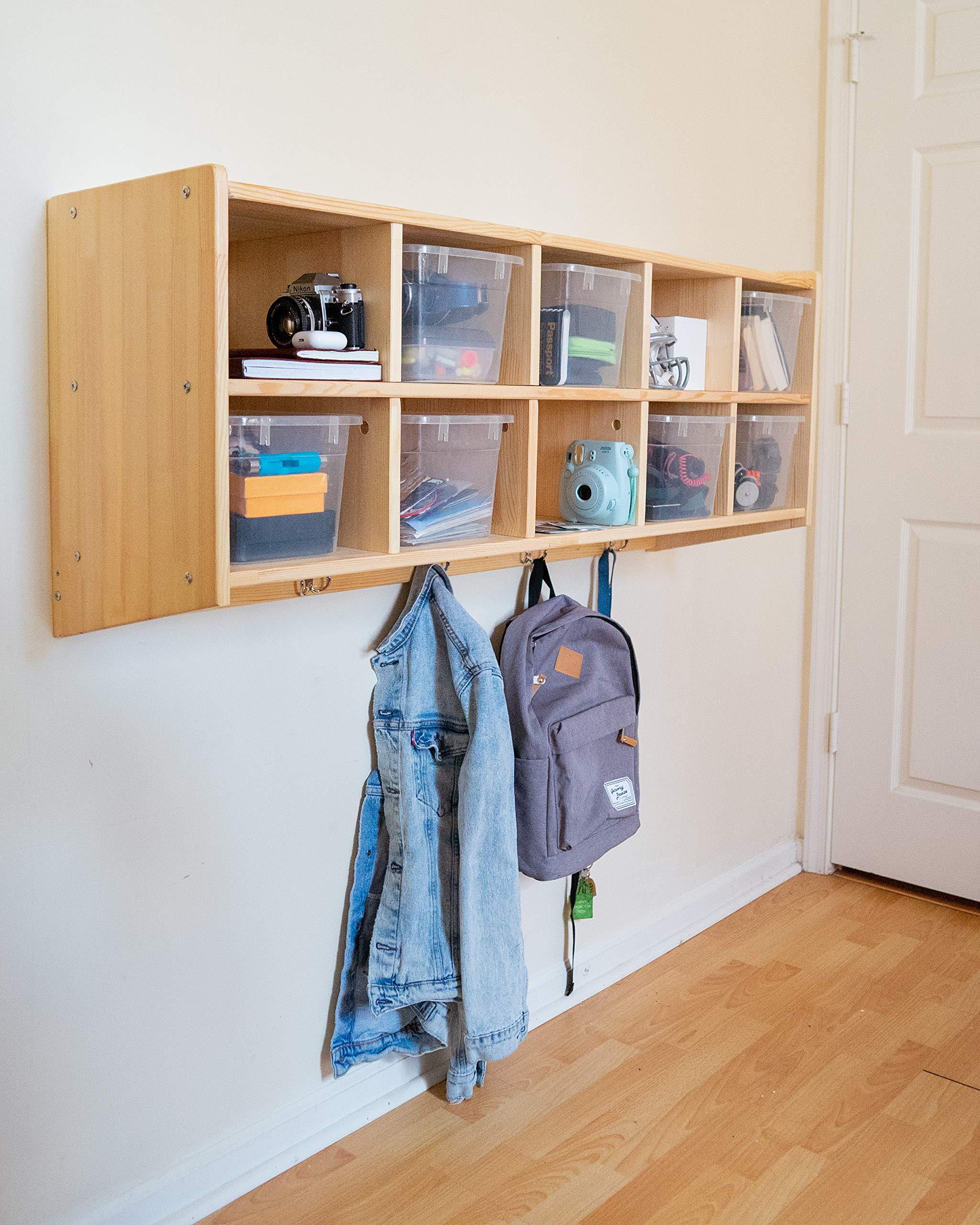 wall cubbies amazon com rh amazon com  wall hanging cubby shelf