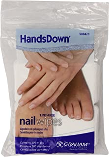 Graham Hands Down Nail Wipes, 200 Count