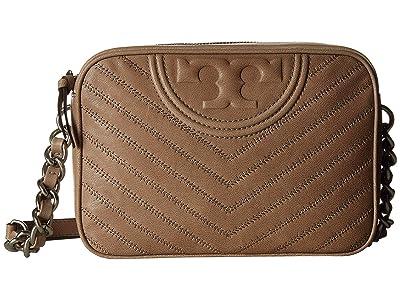 Tory Burch Fleming Distressed Camera Bag (Taupe) Handbags