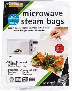Set of 25 Quickasteam Microwave Steamer Bags, 3-Pack