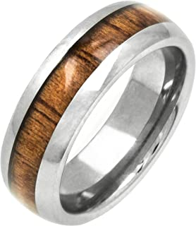 Honolulu Jewelry Company Tungsten Koa Wood 6mm Ring
