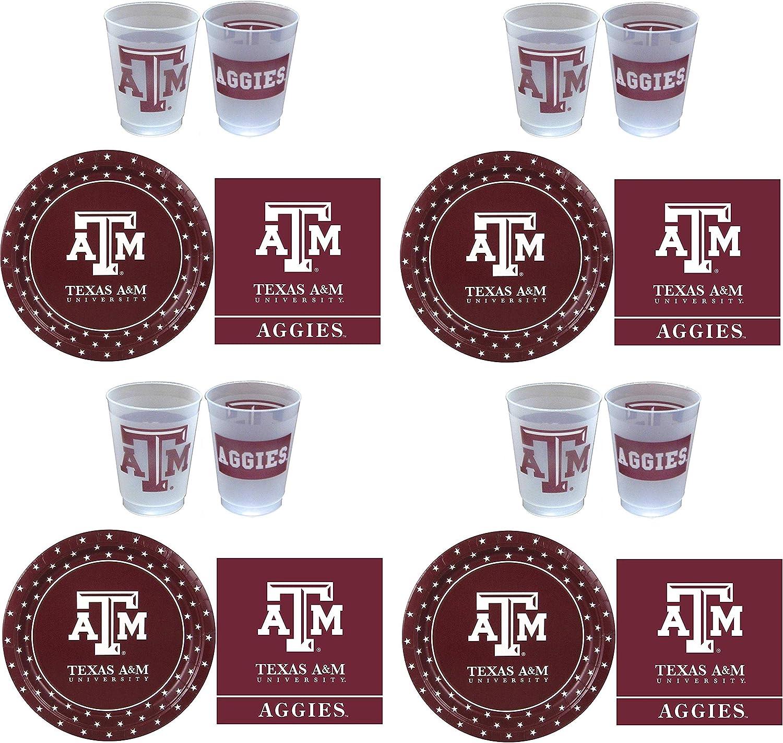 ventas calientes Westrick Texas A&M Aggies Suministros de fiesta – – – 81 piezas 4-(Pack)  servicio de primera clase