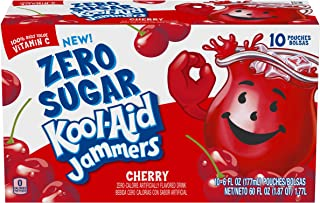 Kool Aid Jammers Cherry Juice Pouches (6 oz Pouches, 4 Packs of 10)