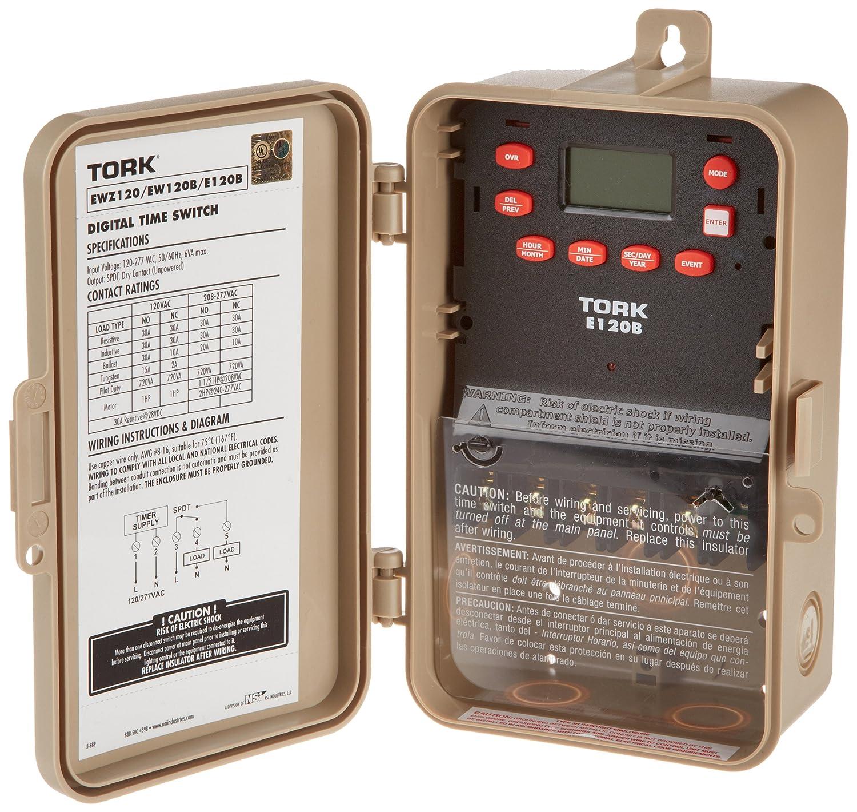 Tork NSI E120B Digital Max 44% OFF Time Manufacturer OFFicial shop Weatherproo Switch 24-Hour NEMA-3R