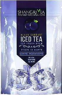 Shangri La Tea Company Iced Tea, Black Currant, Bag of 6, 1/2 oz Pouches