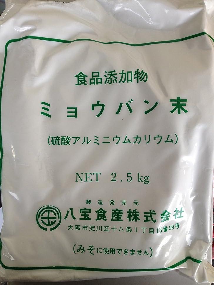 九開示するウイルスミョウバン末 2.5kg 硫酸アルミニウムカリウム 生ミョウバン