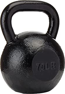 Sunny Health & Fitness Black Kettlebell Made with High Grade Cast Iron for Swings, Deadlifts, Snatches, Squats, Cardio and Resistance Training
