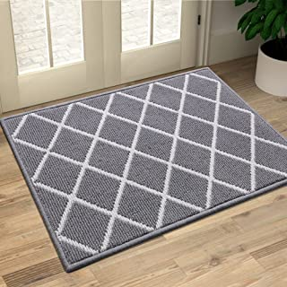 Finchitty Indoor Door Mat, Non-Slip Absorbent Resist Dirt Entrance Rug, Durable Machine Washable Rugs for Entryway, Low-Pr...