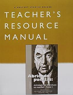 McDougal Littell Nextext: Abriendo puertas, Version 1 Teachers Edition