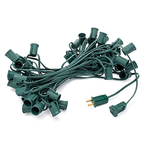 Holiday Lighting Outlet C9 Christmas Light String, Patio Event Lighting, 50, Green
