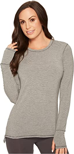 Modal Spandex Lounge Crew Neck Long Sleeve Top