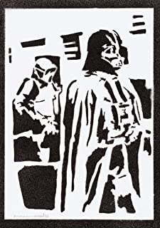 Poster Darth Vader STAR WARS Handmade Graffiti Street Art - Artwork