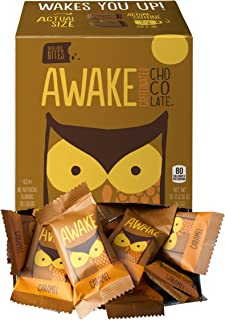 Awake Caffeinated Chocolate Energy Bites, Caramel, 50 Count per box, 29 Ounce