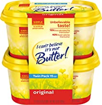 I Can't Believe It's Not Butter!, Blend Butter And Margarine Tubs, 7.5 oz (Pack of 2)