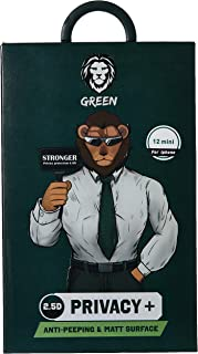 Green 2.5D AG Privacy Glass Screen Protector - iPhone 12 / 12 Pro
