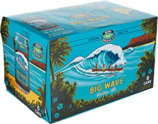 Kona Big Wave Hawaiian Golden Ale Can, 355ml (Pack of 6)