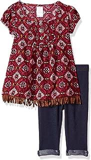 Youngland Baby Girls' Aztec Tunic Dress with Fringe & Denim Legging