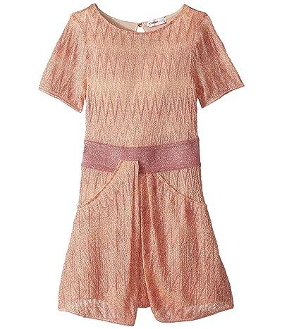 Missoni Kids Zigzag Lame Dress (Toddler/Little Kids) (Peach) Girl