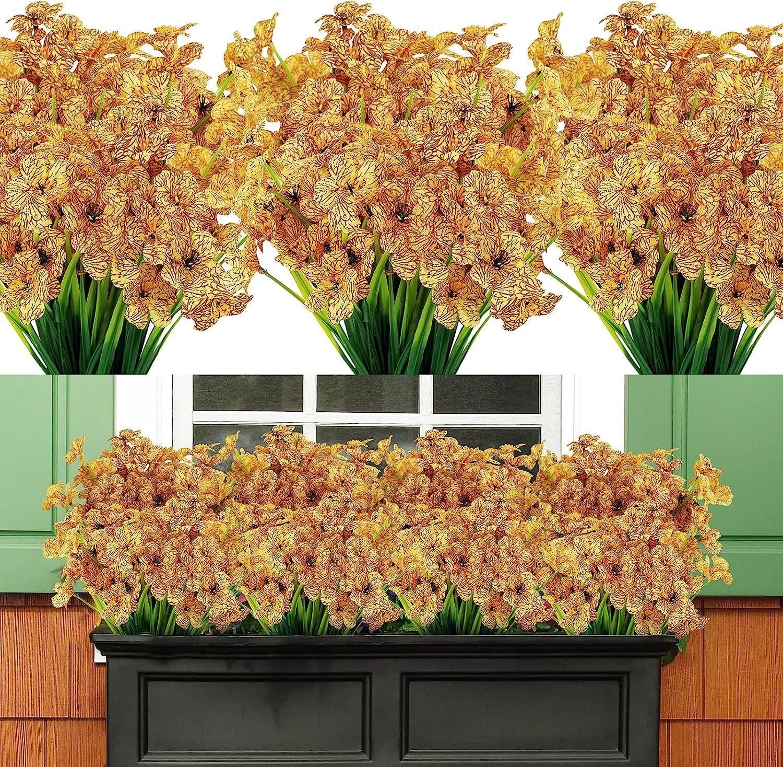 Now on sale AmyHomie 20 Bundles Artificial Luxury Flowers Resistant Outdoor UV Faux