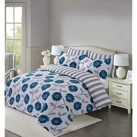 Spring Floral Pattern Cotton Rich Super Soft Duvet Quilt Covers Bedding Sets LZ