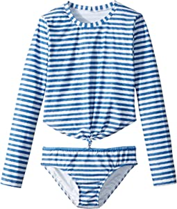 Seafolly Kids - Sapphire Coast Knot Front Surf Set (Little Kids/Big Kids)