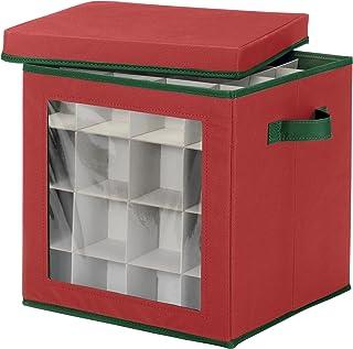 Whitmor Ornament Storage Cube, 64 compartments