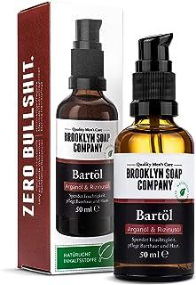 Baardolie (50 ml), Broollyn Soap Compony, baardolie voor de dagelijkse baardverzorging van 3 dagen baard of volle baard, b...