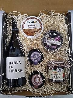 comprar comparacion Cesta navidad con vino Habla de la Tierra, paté al Pedro Ximenez, paté de langosta de La Chinata, mermelada tomate, cachue...
